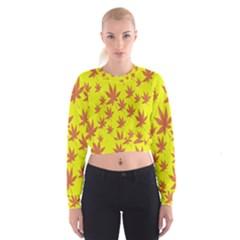 Autumn Background Cropped Sweatshirt