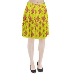 Autumn Background Pleated Skirt