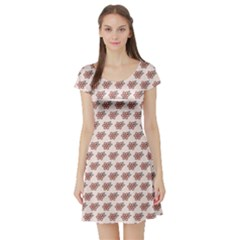 14skd4-pattern Short Sleeve Skater Dress