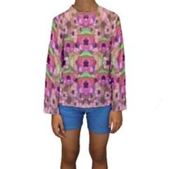 It Is Lotus In The Air Kids  Long Sleeve Swimwear
