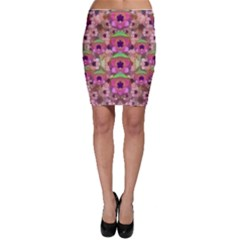 It Is Lotus In The Air Bodycon Skirt