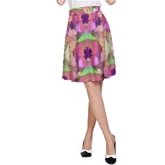 It Is Lotus In The Air A-Line Skirt