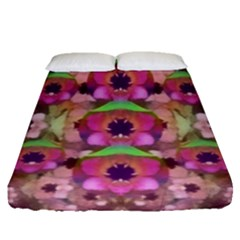 It Is Lotus In The Air Fitted Sheet (queen Size)