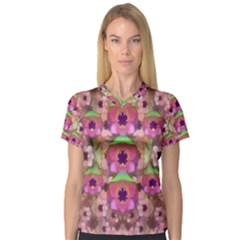 It Is Lotus In The Air Women s V-Neck Sport Mesh Tee