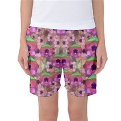 It Is Lotus In The Air Women s Basketball Shorts