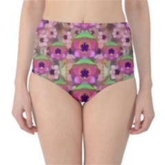 It Is Lotus In The Air High-Waist Bikini Bottoms