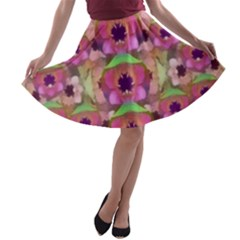 It Is Lotus In The Air A-line Skater Skirt