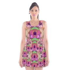 It Is Lotus In The Air Scoop Neck Skater Dress