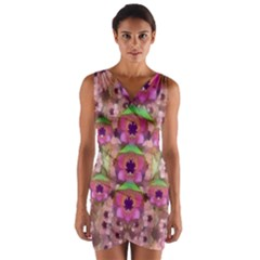 It Is Lotus In The Air Wrap Front Bodycon Dress