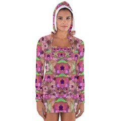 It Is Lotus In The Air Women s Long Sleeve Hooded T-shirt