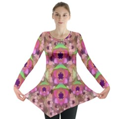 It Is Lotus In The Air Long Sleeve Tunic
