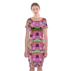 It Is Lotus In The Air Classic Short Sleeve Midi Dress
