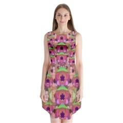 It Is Lotus In The Air Sleeveless Chiffon Dress
