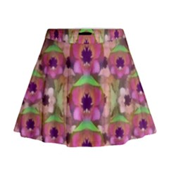 It Is Lotus In The Air Mini Flare Skirt