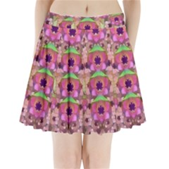 It Is Lotus In The Air Pleated Mini Skirt