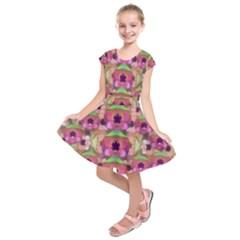 It Is Lotus In The Air Kids  Short Sleeve Dress