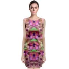 It Is Lotus In The Air Sleeveless Velvet Midi Dress