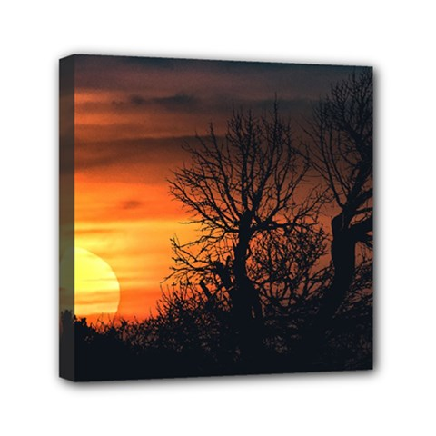 Sunset At Nature Landscape Mini Canvas 6  x 6