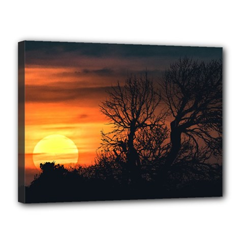 Sunset At Nature Landscape Canvas 16  x 12