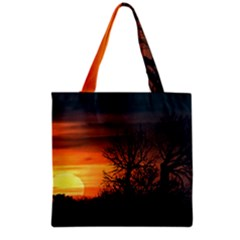 Sunset At Nature Landscape Grocery Tote Bag