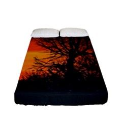Sunset At Nature Landscape Fitted Sheet (Full/ Double Size)