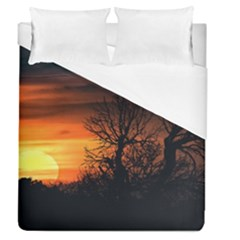 Sunset At Nature Landscape Duvet Cover (Queen Size)