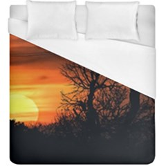 Sunset At Nature Landscape Duvet Cover (King Size)