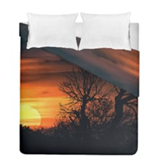Sunset At Nature Landscape Duvet Cover Double Side (Full/ Double Size)