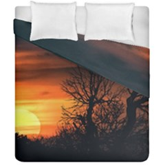 Sunset At Nature Landscape Duvet Cover Double Side (California King Size)