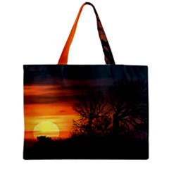 Sunset At Nature Landscape Medium Zipper Tote Bag