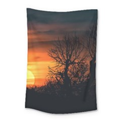 Sunset At Nature Landscape Small Tapestry