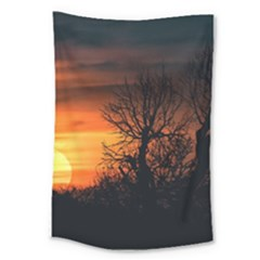 Sunset At Nature Landscape Large Tapestry