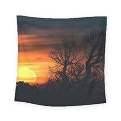 Sunset At Nature Landscape Square Tapestry (small)