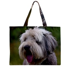 Bearded Collie Zipper Mini Tote Bag