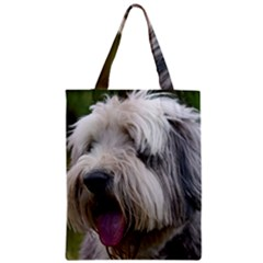 Bearded Collie Zipper Classic Tote Bag