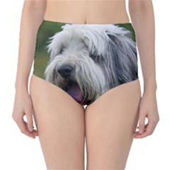 Bearded Collie High-Waist Bikini Bottoms