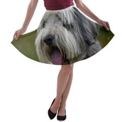Bearded Collie A-line Skater Skirt