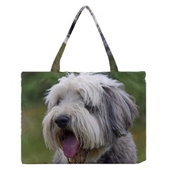 Bearded Collie Medium Zipper Tote Bag