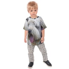 Bearded Collie Kids  Raglan Tee