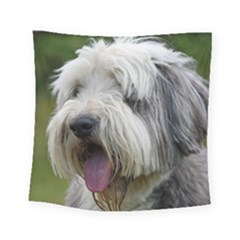 Bearded Collie Square Tapestry (Small)