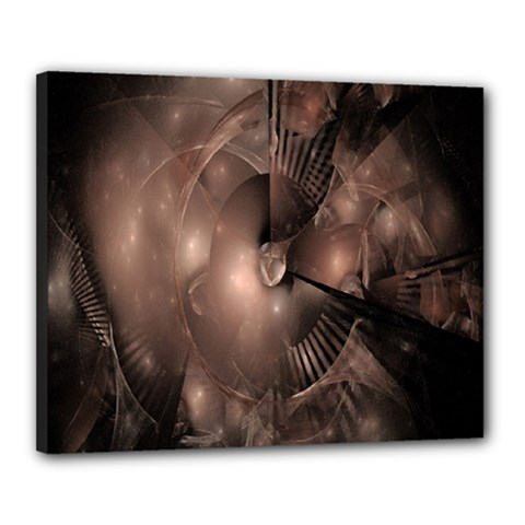 A Fractal Image In Shades Of Brown Canvas 20  x 16