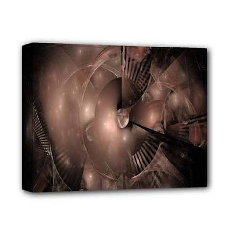 A Fractal Image In Shades Of Brown Deluxe Canvas 14  x 11