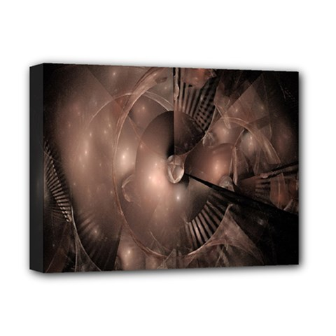 A Fractal Image In Shades Of Brown Deluxe Canvas 16  X 12