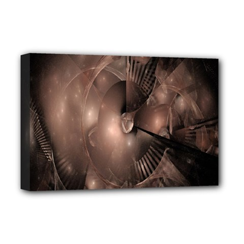 A Fractal Image In Shades Of Brown Deluxe Canvas 18  x 12