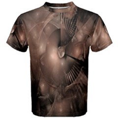 A Fractal Image In Shades Of Brown Men s Cotton Tee