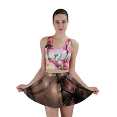 A Fractal Image In Shades Of Brown Mini Skirt