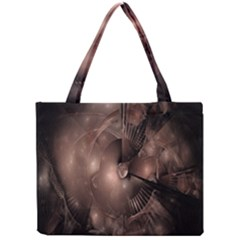 A Fractal Image In Shades Of Brown Mini Tote Bag