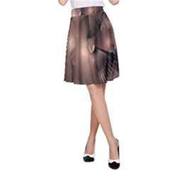 A Fractal Image In Shades Of Brown A-Line Skirt