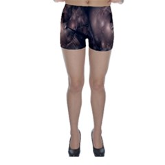A Fractal Image In Shades Of Brown Skinny Shorts