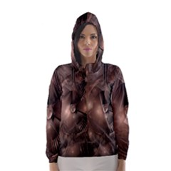 A Fractal Image In Shades Of Brown Hooded Wind Breaker (Women)